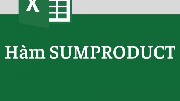 hàm sumproduct trong excel